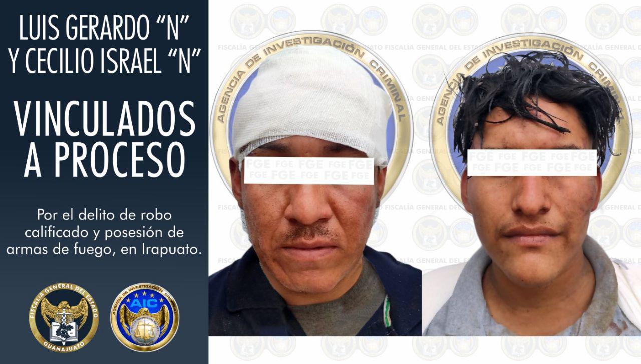 Vinculan a proceso penal a dos sujetos, por el robo violento de un vehículo y portación de armas de fuego, en Irapuato. 1