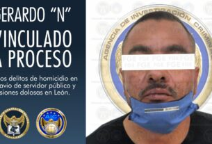 Vinculan a proceso a hombre que lesionó con arma de fuego a una mujer y privó de la vida a un elemento de Seguridad Pública de León 2