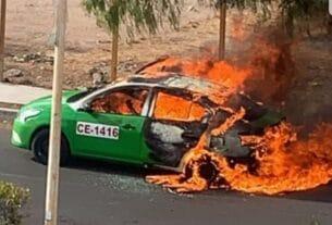 Matan a taxista y luego lo calcinan tras incendiar el vehículo 4