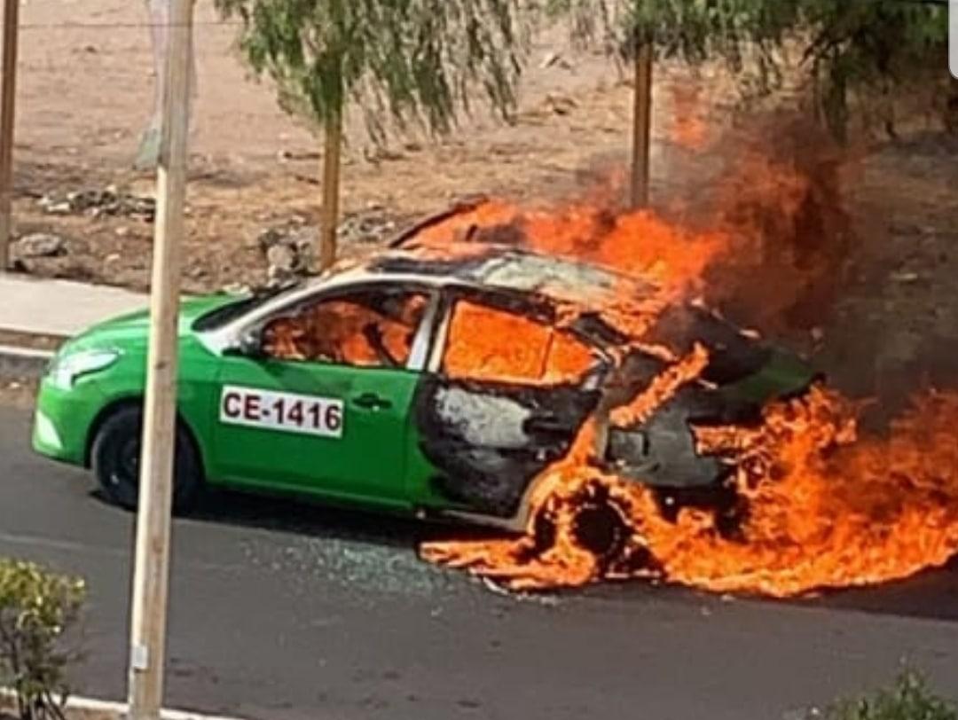 Matan a taxista y luego lo calcinan tras incendiar el vehículo 1