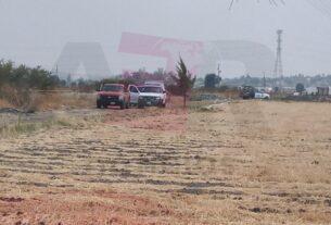 Localizan restos semienterrados en predio parcelario en la comunidad San Javier 4