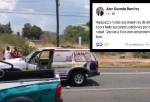 Se reporta estable tras atentado, Juan Guzmán candidato a diputado local del Distrito XX por el PRI-PRD 4