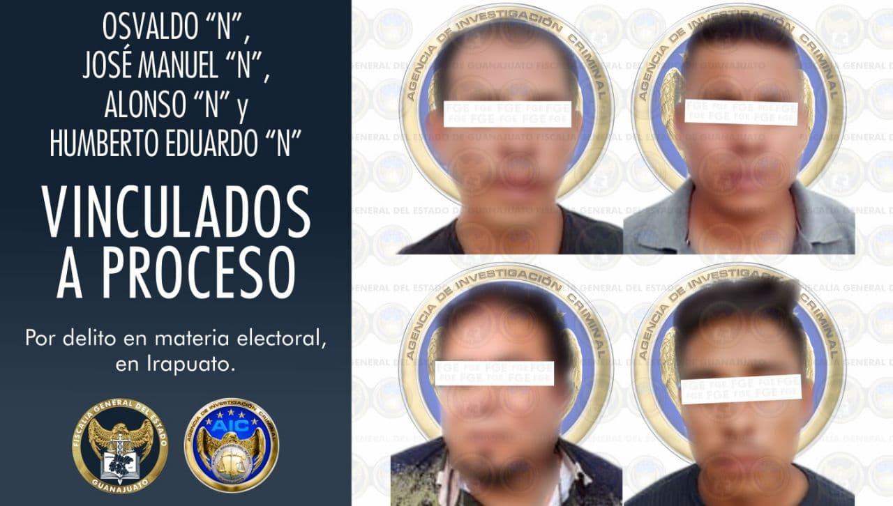 Por el robo de dos urnas y boletas electorales, en Irapuato, vinculan a proceso a 4 hombres 1