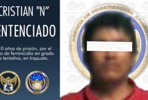"""Sentencia de 10 años en prisión para Cristian """"N"""", por feminicidio en grado de tentativa en agravio de su madre 4"""