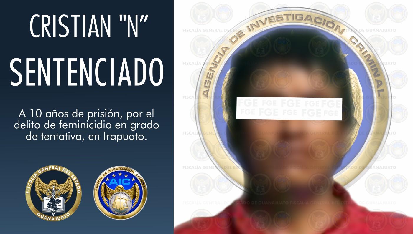 """Sentencia de 10 años en prisión para Cristian """"N"""", por feminicidio en grado de tentativa en agravio de su madre 1"""