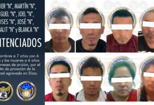 Ocho personas que privaron de la libertad a una víctima en Silao, fueron sentenciados a prisión. 4
