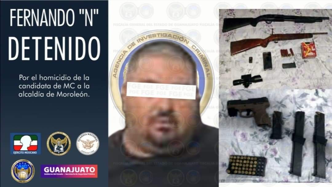 "Capturan a FERNANDO ""N"" homicida de la candidata de MC a la alcaldía de Moroleón. 1"
