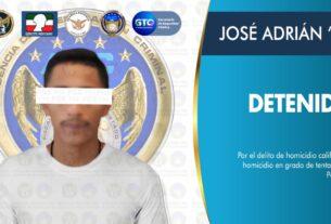 """Detienen en Pénjamo a JOSÉ ADRIÁN """"N"""", objetivo criminal generador de violencia en el estado 4"""