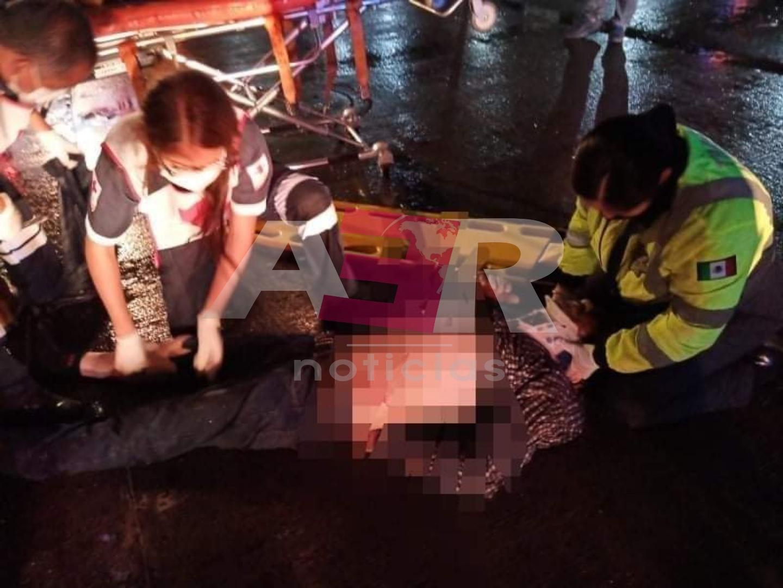 Atropellan a trailero en el boulevard Solidaridad, se reporta grave 1