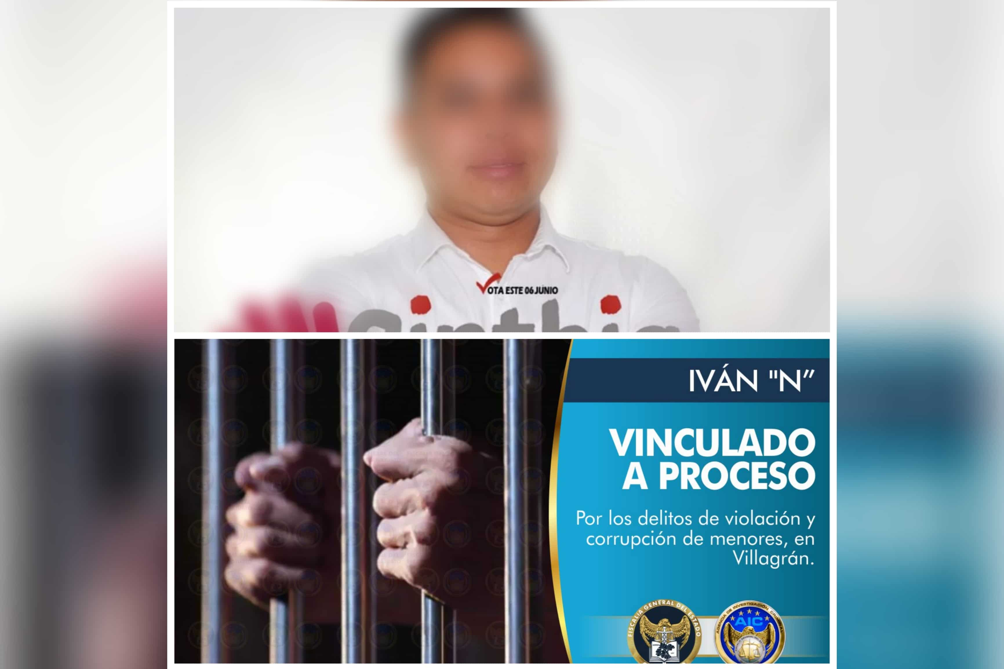 Vinculan a proceso por violación a Regidor electo de MORENA en Villagrán 1