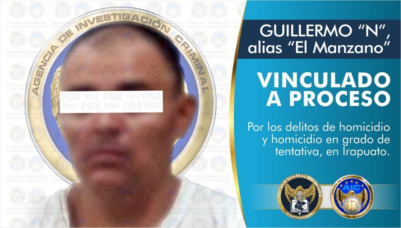 Vinculan a proceso a hombre por los delitos de homicidio y homicidio en grado de tentativa en Irapuato 1