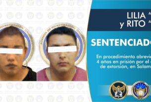 Sentencian a 4 años de prisión a pareja de extorsionadores en Salamanca 2