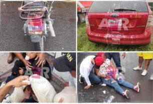 Dos niños y dos adultos lesionados en accidente de motocicleta 4