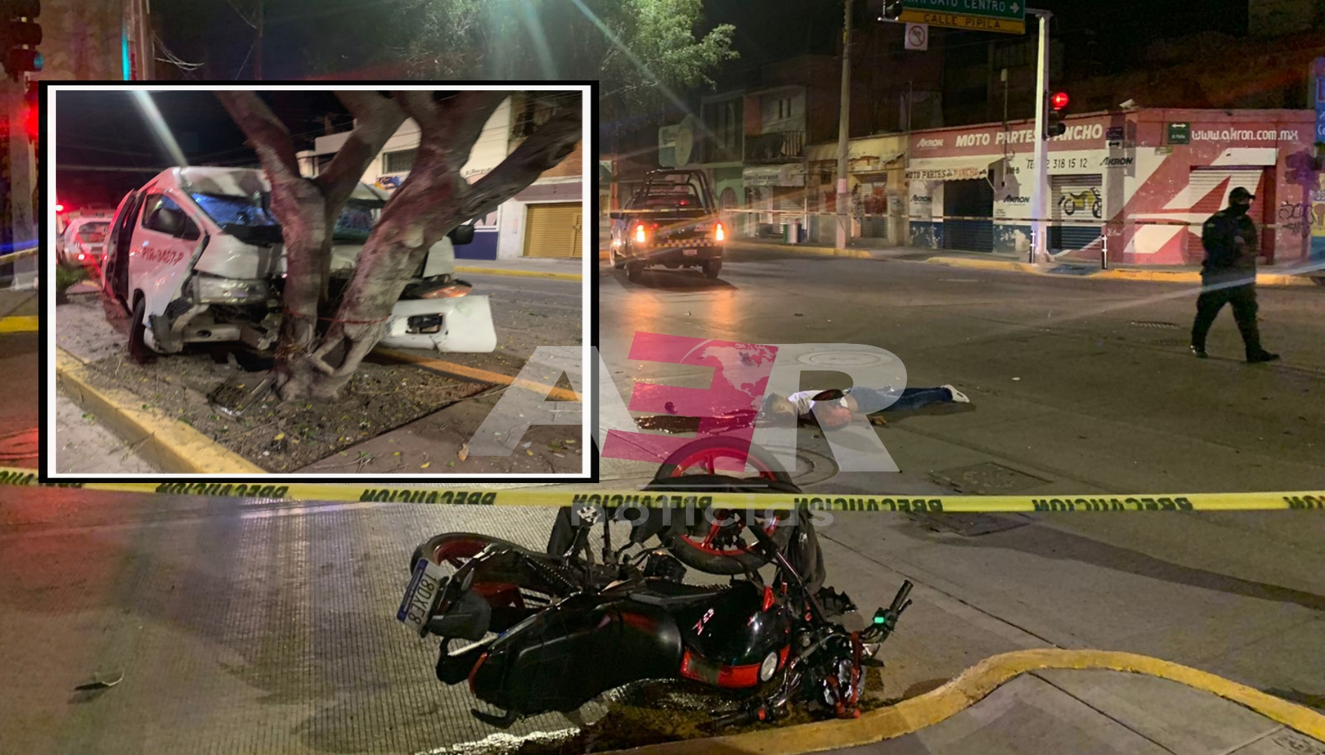 Muere motociclista tras ser impactado por vagoneta de transporte de personal 1