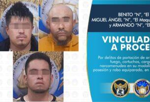 Por posesión de narcóticos y armas de fuego, vinculan a proceso a tres sujetos. 4