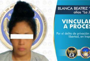 """Vinculan a proceso a """"La Jefa"""", integrante de grupo criminal por privación de la libertad de una hombre 3"""