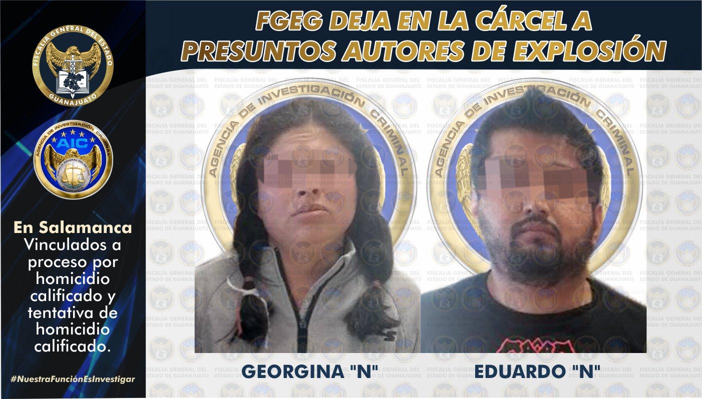 Vinculan a proceso a pareja acusada de la explosión en el Restaurant Barra 1604, en Salamanca. 1
