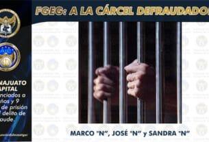 En prisión 3 sujetos que defraudaron a una víctima con medio millón de pesos para una concesión de taxi 3