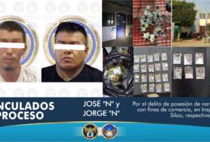 Aseguran cientos de dosis de droga y detienen a dos sujetos, en puntos de venta en Irapuato y Silao 2