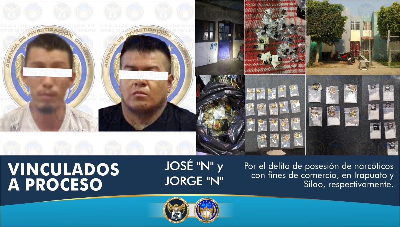 Aseguran cientos de dosis de droga y detienen a dos sujetos, en puntos de venta en Irapuato y Silao 6