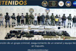 En Irapuato aseguran un arsenal, equipo táctico y detienen a 13 integrantes de un grupo delincuencial 3
