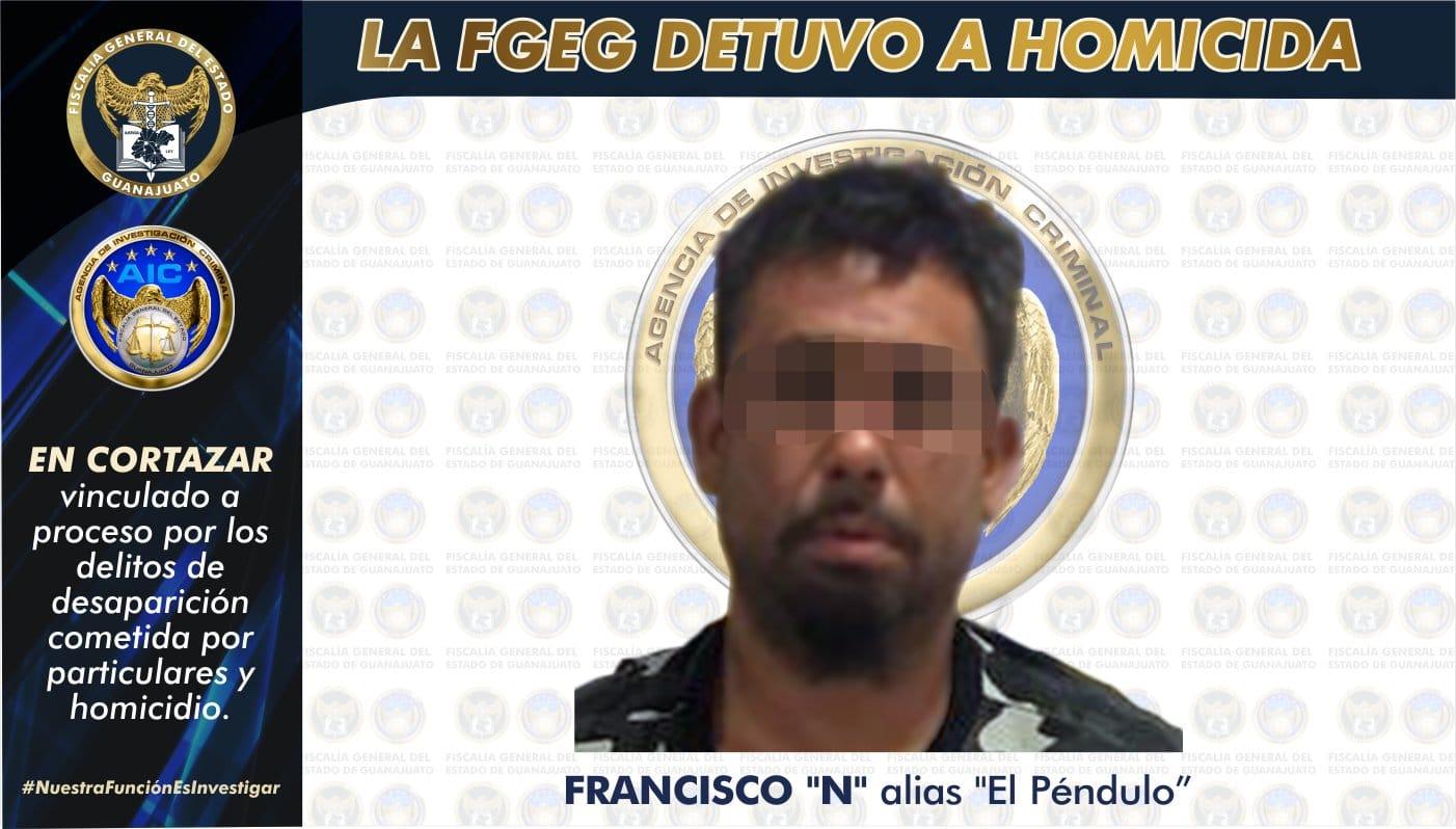 """Vinculan a proceso a """"El Péndulo"""" por desaparición y homicidio de un hombre cuyo cadáver fue enterrado en Cañada de Caracheo. 1"""