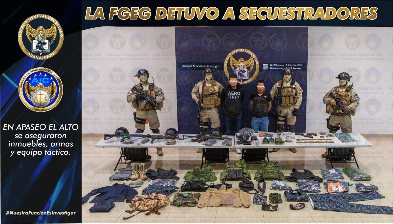 La FGEG captura a secuestradores en Apaseo el Alto, liberan a víctima 1