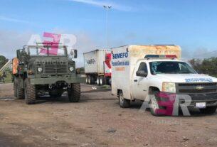 Impacta tractocamión convoy militar, muere un elemento castrense 3
