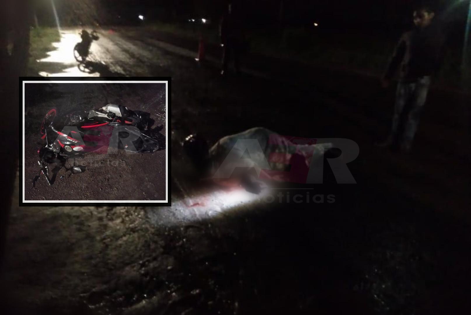 Se impacta motociclista contra árbol y muere 1