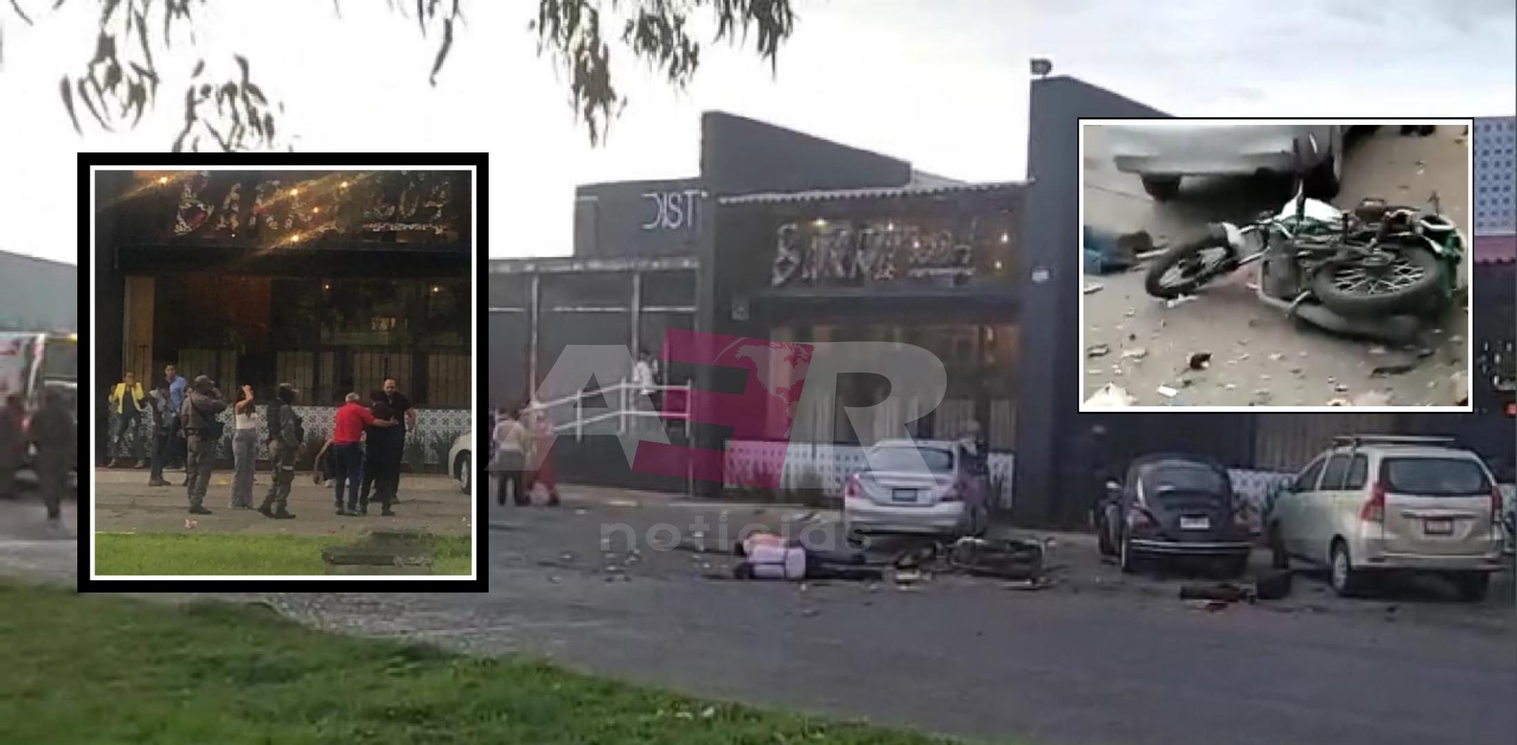 Dos muertos y cuatro lesionados deja explosión de artefactos explosivos afuera de restaurante 1