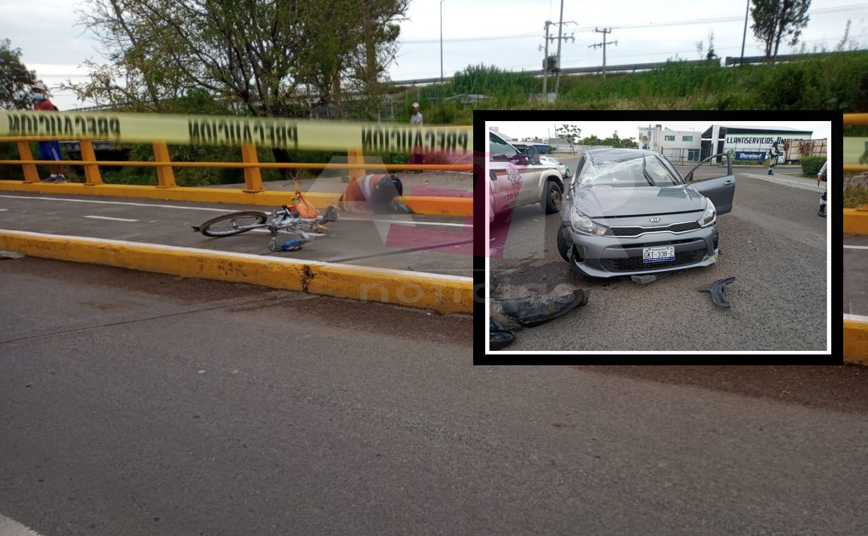 Muere ciclista arrollado por el conductor de un vehículo en la glorieta de Las Carmelitas 1