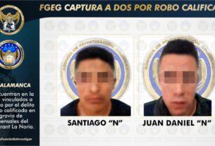 Por el robo a mano armada a comensales del Restaurant La Noria, dos sujetos fueron vinculados a proceso penal.  3