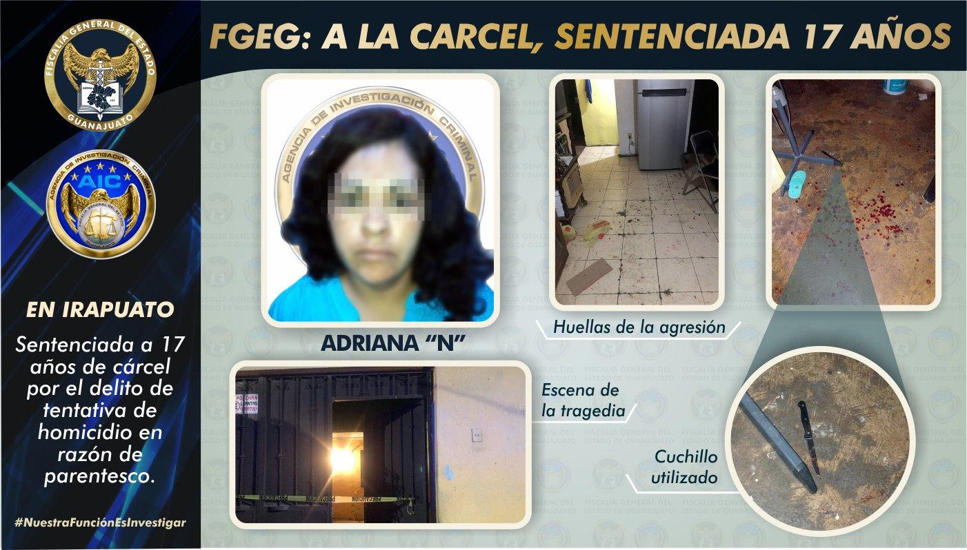 Sentencia de 17 años para mujer que intentó matar a sus dos hijos en Irapuato 1