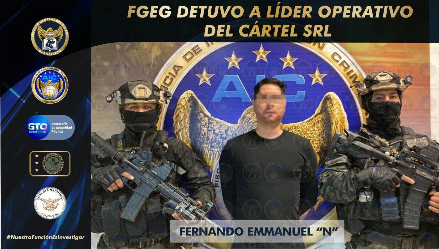 La Fiscalía General del Estado capturó al líder operativo del cártel SRL 1
