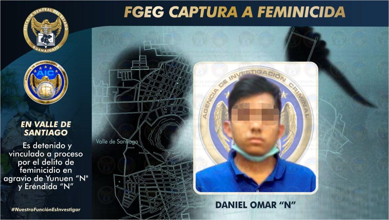 La FGEG esclareció el homicidio de dos hermanas en Valle de Santiago.