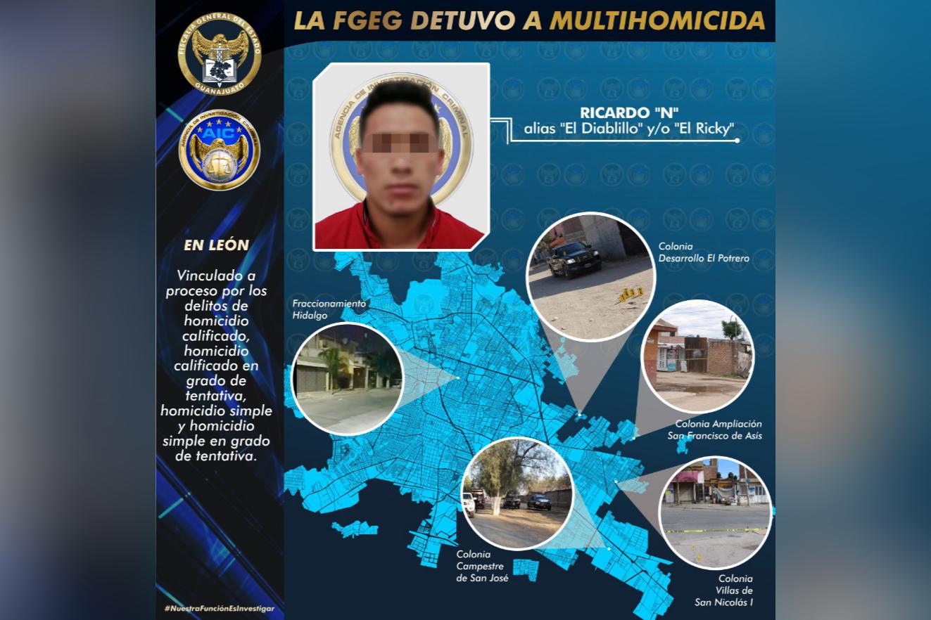 Multihomicida es capturado por la Fiscalía General del Estado 1