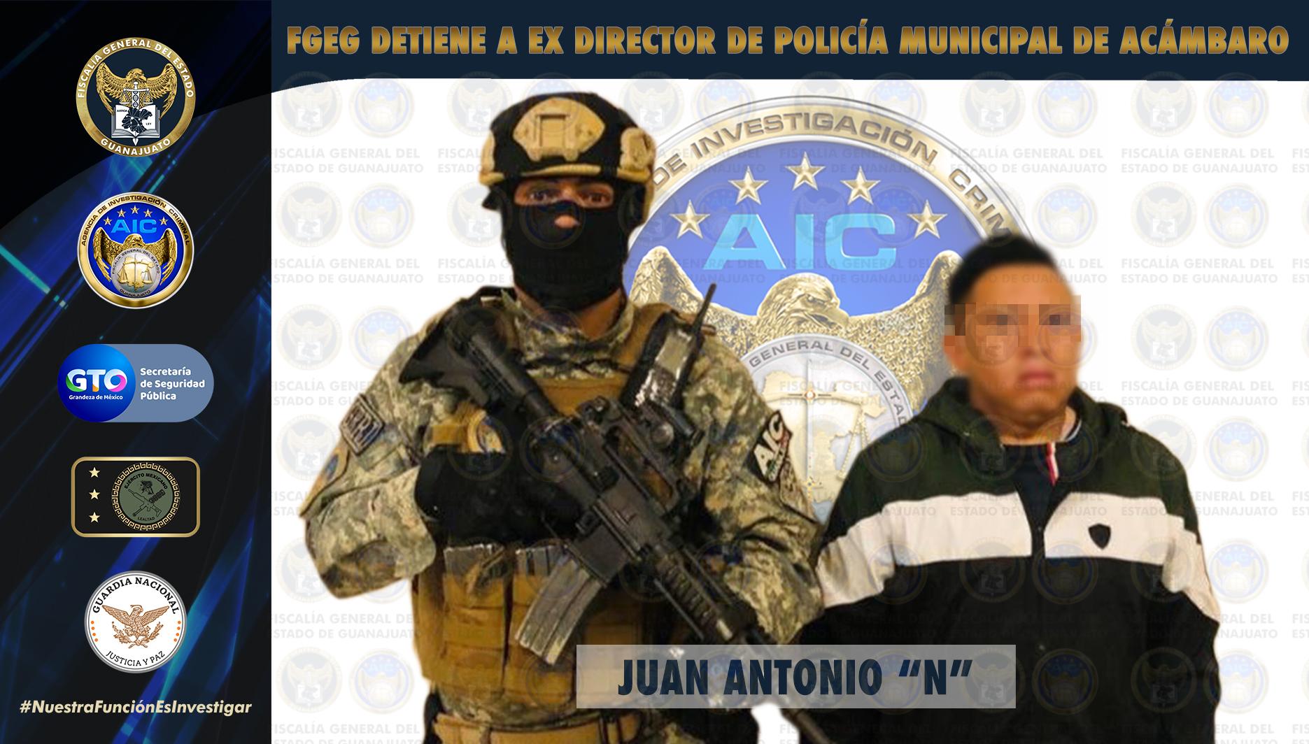 Detienen a ex Director de Seguridad Pública Municipal de Acámbaro. 1